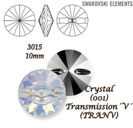 SWAROVSKI Buttons 3015 CRYSTAL TRANSMISSION 10mm