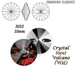 SWAROVSKI Buttons 3015 CRYSTAL VOLCANO 10mm