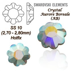 SWAROVSKI ELEMENTS 2728 HOTFIX SS10 CRYSTAL AB