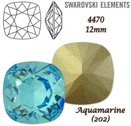 SWAROVSKI Fancy Stone 4470 AQUAMARINE 12mm