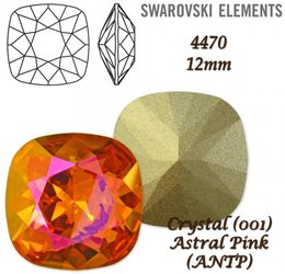 SWAROVSKI Fancy Stone 4470 ASTRAL PINK 12mm