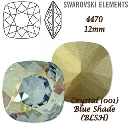 SWAROVSKI Fancy Stone 4470 BLUE SHADE 12mm