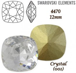 SWAROVSKI Fancy Stone 4470 CRYSTAL 12mm