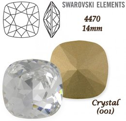 SWAROVSKI Fancy Stone 4470 CRYSTAL 14mm