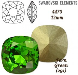 SWAROVSKI Fancy Stone 4470 FERN GREEN 12mm