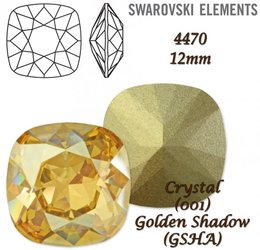 SWAROVSKI Fancy Stone 4470 GOLDEN SHADOW 12mm