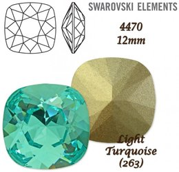 SWAROVSKI Fancy Stone 4470 LIGHT TURQUOISE 12mm