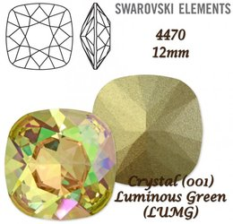 SWAROVSKI Fancy Stone 4470 LUMINOUS GREEN 12mm