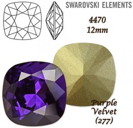SWAROVSKI Fancy Stone 4470 PURPLE VELVET 12mm