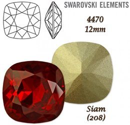 SWAROVSKI Fancy Stone 4470 SIAM 12mm
