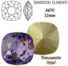 SWAROVSKI Fancy Stone 4470 TANZANITE 12mm