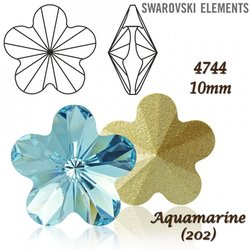 SWAROVSKI Flower Fancy 4744 AQUAMARINE 10mm