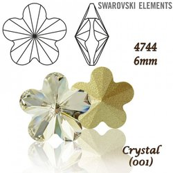 SWAROVSKI Flower Fancy 4744 CRYSTAL 6mm