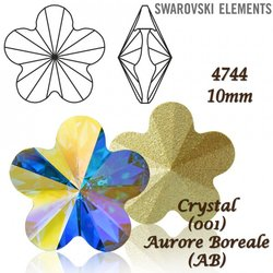 SWAROVSKI Flower Fancy 4744 CRYSTAL AB 10mm
