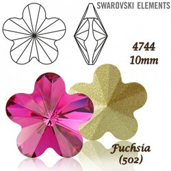 SWAROVSKI Flower Fancy 4744 FUCHSIA 10mm