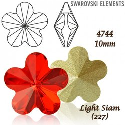 SWAROVSKI Flower Fancy 4744 LIGHT SIAM 10mm