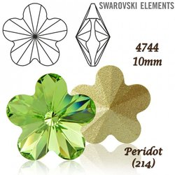 SWAROVSKI Flower Fancy 4744 PERIDOT 10mm