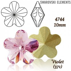 SWAROVSKI Flower Fancy 4744 VIOLET 10mm
