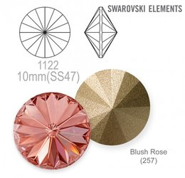 SWAROVSKI RIVOLI 1122 BLUSH ROSE 10mm