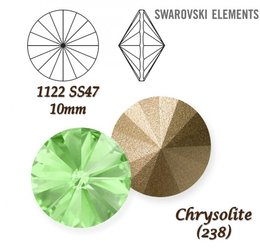 SWAROVSKI RIVOLI 1122 CHRYSOLITE 10mm