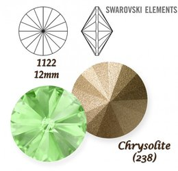 SWAROVSKI RIVOLI 1122 CHRYSOLITE 12mm