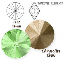 SWAROVSKI RIVOLI 1122 CHRYSOLITE 14mm