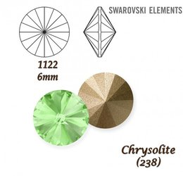SWAROVSKI RIVOLI 1122 CHRYSOLITE 6mm