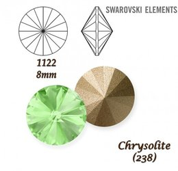 SWAROVSKI RIVOLI 1122 CHRYSOLITE 8mm