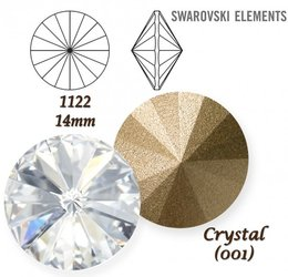 SWAROVSKI RIVOLI 1122 CRYSTAL 14mm