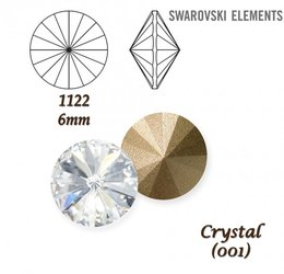 SWAROVSKI RIVOLI 1122 CRYSTAL 6mm