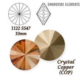 SWAROVSKI RIVOLI 1122 CRYSTAL COPPER  10mm