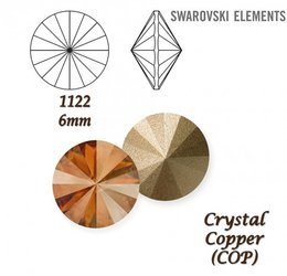 SWAROVSKI RIVOLI 1122 CRYSTAL COPPER 6mm