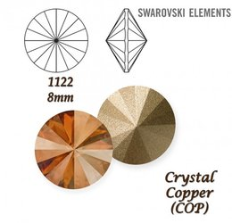 SWAROVSKI RIVOLI 1122 CRYSTAL COPPER 8mm