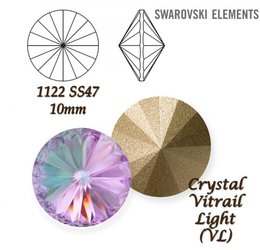 SWAROVSKI RIVOLI 1122 CRYSTAL VITRAIL LIGHT 10mm