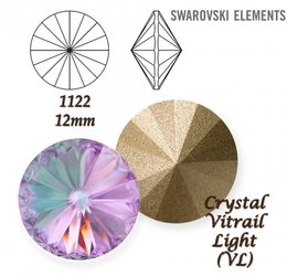 SWAROVSKI RIVOLI 1122 CRYSTAL VITRAIL LIGHT 12mm