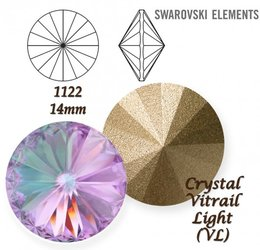 SWAROVSKI RIVOLI 1122 CRYSTAL VITRAIL LIGHT 14mm