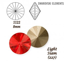 SWAROVSKI RIVOLI 1122 LIGHT SIAM 8mm