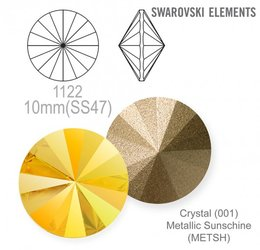 SWAROVSKI RIVOLI 1122 METALLIC SUNSHINE 10mm