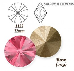 SWAROVSKI RIVOLI 1122 ROSE 12mm