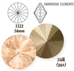 SWAROVSKI RIVOLI 1122 SILK 14mm