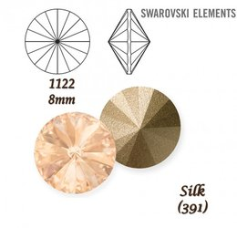 SWAROVSKI RIVOLI 1122 SILK 8mm