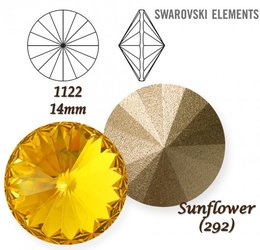 SWAROVSKI RIVOLI 1122 SUNFLOWER 14mm