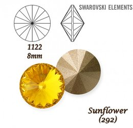 SWAROVSKI RIVOLI 1122 SUNFLOWER 8mm