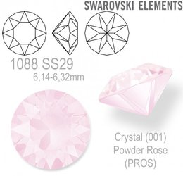 SWAROVSKI XIRIUS 1088 SS29 POWDER ROSE