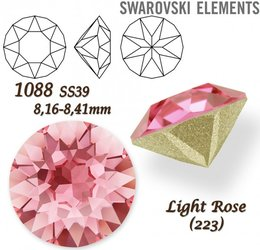 SWAROVSKI XIRIUS 1088 SS39 LIGHT ROSE