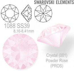 SWAROVSKI XIRIUS 1088 SS39 POWDER ROSE