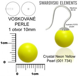 SWAROVSKI perle 1 OTVOR 5818 10mm NEON YELLOW 734