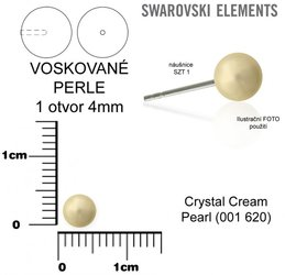SWAROVSKI perle 1 OTVOR 5818 4mm CREAM