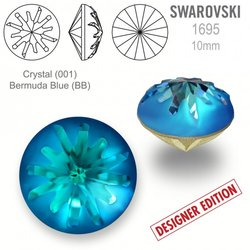 Swarovski 1695 Sea Urchin Round 10mm Bermuda Blue