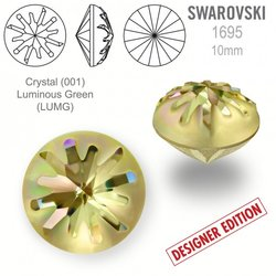 Swarovski 1695 Sea Urchin Round 10mm Luminous Gree